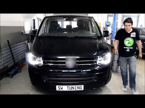 SW-Tuning Tutorial Einbauvideo SW DRL Scheinwerfer in VW T5 GP Facelift