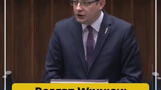 Wystąpienie Roberta Winnickiego (Konfederacja) po expose premiera Morawieckiego