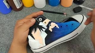 Step Of Naruto Anime Hand Painted Shoes By Mypaintedshoes