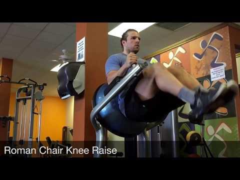 Roman Chair Knee Raise
