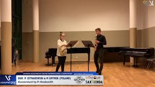 DUO P. CETNAROWSKI & M. GYMREK play Konzerstuck by P. Hindemith