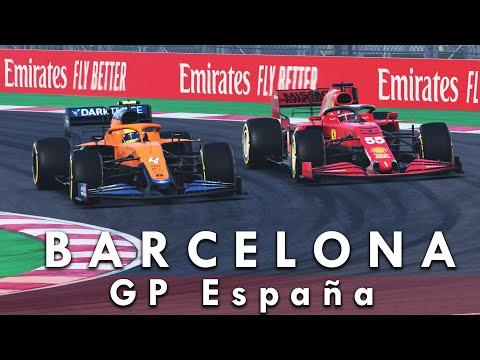 CON CARLOS SAINZ EN CASA   MOD F1 2021 CODEMASTERS   GP ESPAÑA
