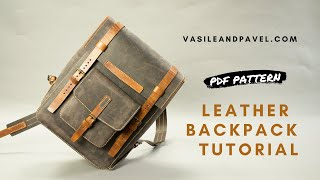 Casual Leather Backpack Pattern