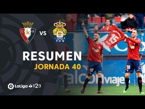 Resumen de CA Osasuna vs UD Las Palmas (2-0)