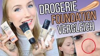 RIESEN DROGERIE FOUNDATION REVIEW  7 Makeups Im Test  TheBeauty2go