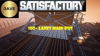 Satisfactory:  Fully stackable endgame ready Main bus design (100+ lanes)