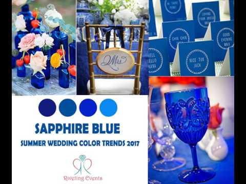 Summer Wedding Color Trends 2017