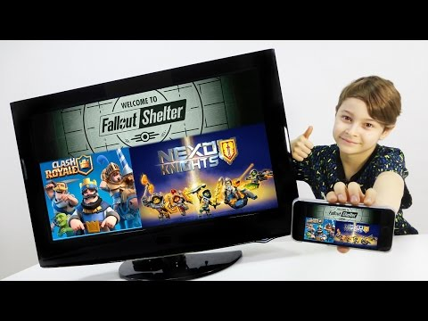 Мобильные игры Clash Royale, Fallout Shelter и Nexo Knights.