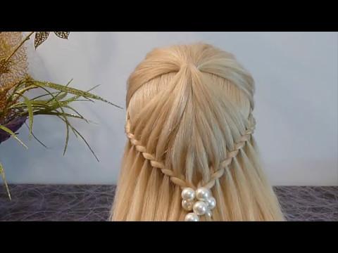 Техника плетения косичек для начинающих.причёска для средних/длинных волос детям/девочкам в школу