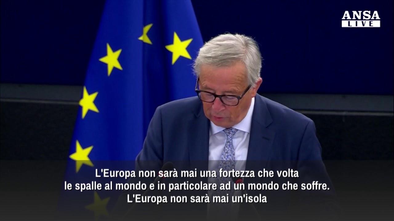 Il discorso di Juncker sullo stato dell'Unione Europea