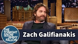 Zach Galifianakis Sons Testicles Fit In His Belly Button