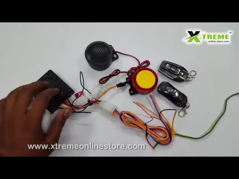 Talking Anti-theft Security Alarm System With Double Remote for Bikes (Model E)