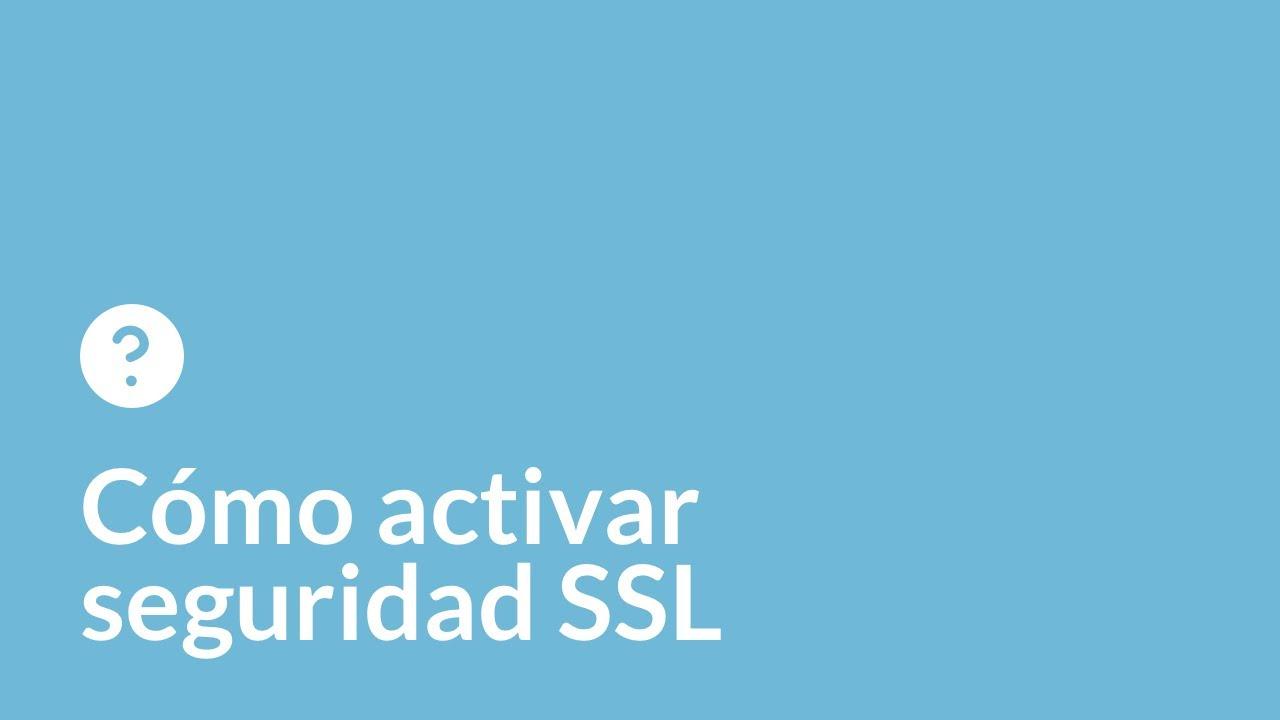 Cómo activar SSL
