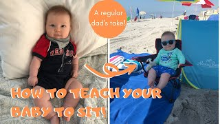 How To Teach Your Baby To Sit Up | 5 Tips and Tricks
