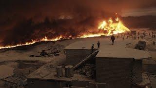 VIDEO 360: Dentro de los pozos de petróleo quemados por Estado Islámico en Irak