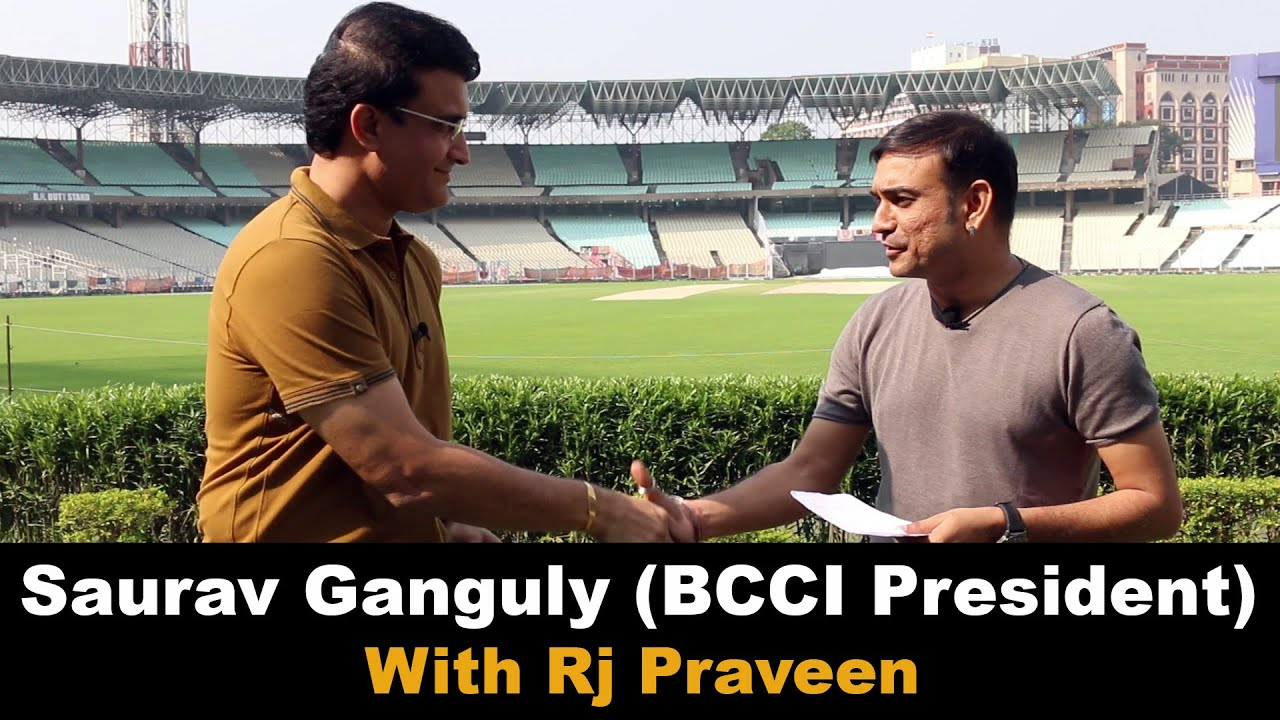 Saurav Ganguly with Rj Praveen | India's first #PinkBallTestMatch