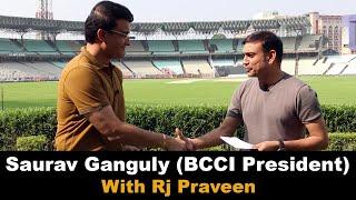 Saurav Ganguly with Rj Praveen | India's first #PinkBallTestMatch | BCCI President