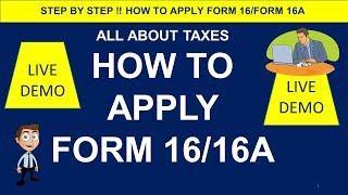 HOW TO APPLY FORM 16/FORM 16A ONLINE !!! CA MANOJ GUPTA !!!