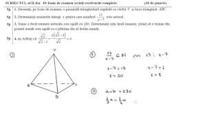Simulare Evaluare Nationala 2017, Matematica