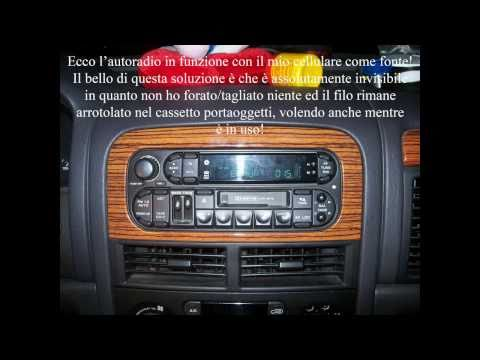 Aux in / ingresso audio fai-da-te su autoradio con caricatore CD Grand Cherokee WJ