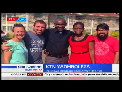 Mtangazaji wa ishara William Sila wa kampuni ya utangazaji KTN afariki