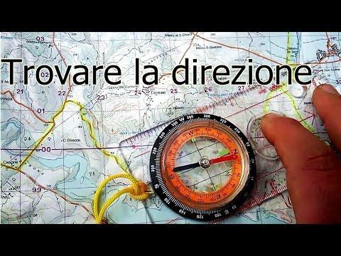 Cartografia -  Trovare la direzione con la bussola