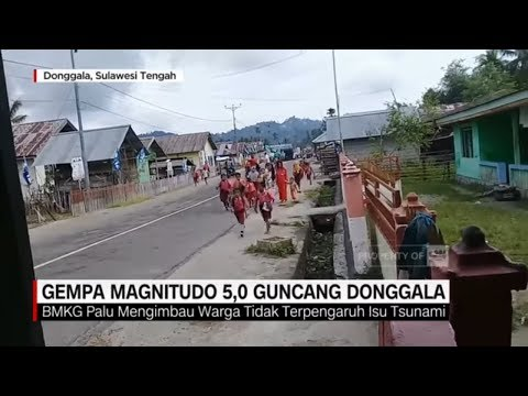 Gempa 5,0 Magnitudo Guncang Donggala, Warga Panik Berlarian