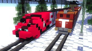 Minecraft PewDiePie Vs T Series Train Animation