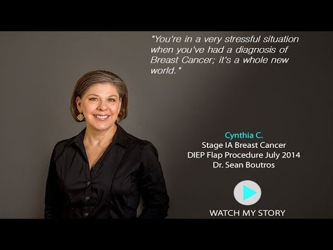 Cynthia C. DIEP flap patient Dr. Sean Boutros