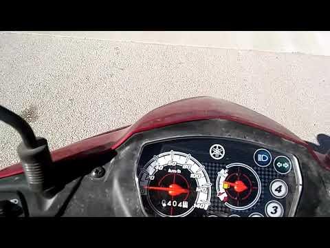 Yamaha cryipton t115 hız testi