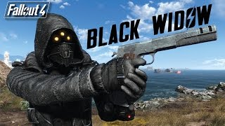 BLACK WIDOW ARMOR AND 45 AUTO PISTOL - Fallout 4 Mod Review