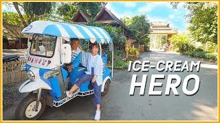 One Day With Ice Cream Tricycle, Please Drive Closer And Let Me Try!