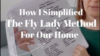 FLY LADY CLEANING METHOD : HOW I SIMPLIFIED IT WORK FOR MY HOME : SIMPLE CLEANING METHOD