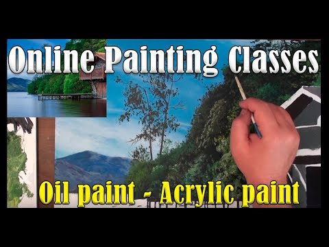 ONLINE oil painting classes – Lessons for Oil Painting - Acrylic Painting