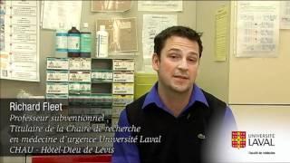 Témoignage du Dr. Fleet au sujet de la Chaire de recherche sur la médecine d'urgence