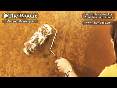 Short Clips   Rag Roller Painting Technique by The Woolie (How To Paint Walls) #FauxPainting