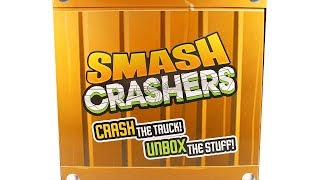 Smash Crashers Trucks and Collectibles Surprise Box Unboxing Toy Review