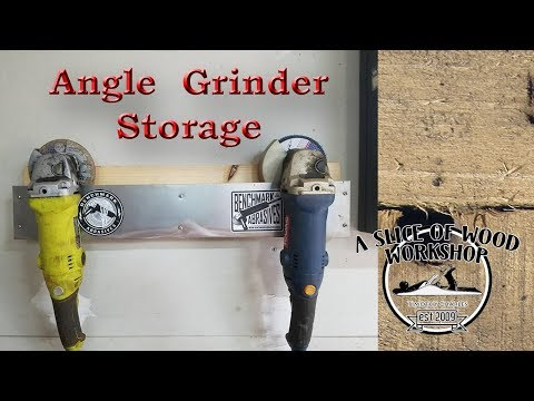How to Make Angle Grinder Storage