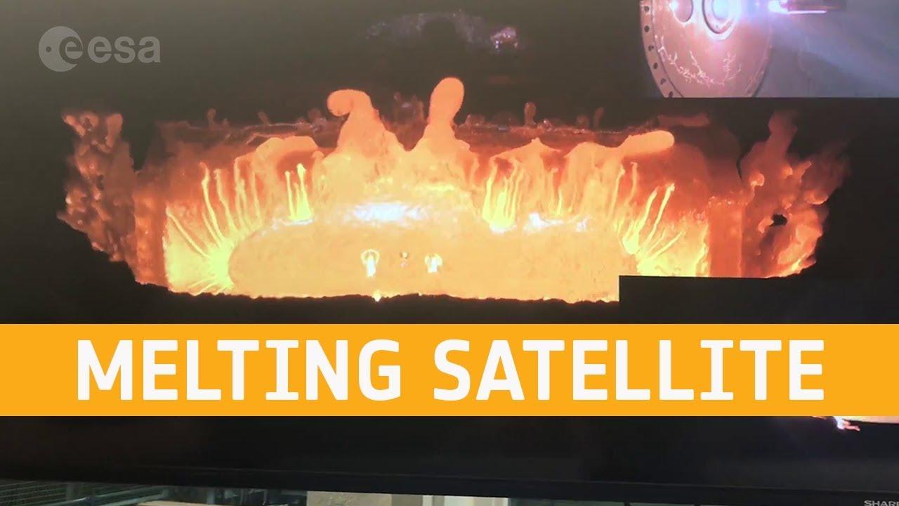 #видео | ЕКА показало, как плавятся спутники в земной атмосфере