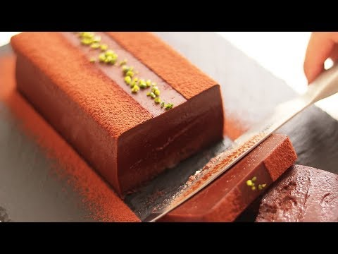 Cooking a chocolate terrine cake