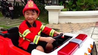 예준이의 소방차 조립놀이 전동 자동차 장난감 Fire Truck for Kids Power Wheels