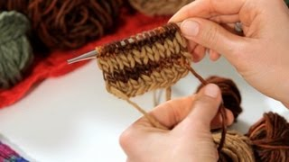 How to Knit a Striped Scarf | Knitting