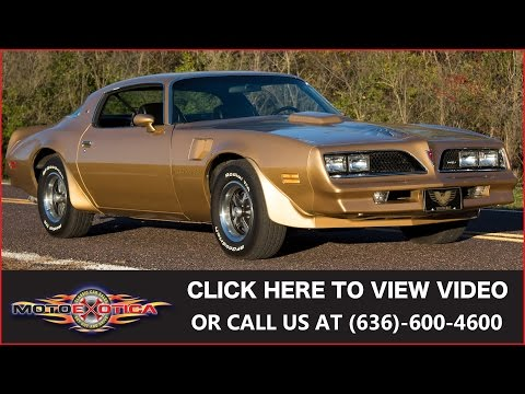 Video of 1978 Firebird Trans Am Auction Vehicle Offered by MotoeXotica Classic Cars - JWBK