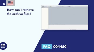 FAQ 004450 | How can I retrieve archive files?