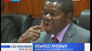 Aliyekuwa mwenyekiti wa tume huru ya IEBC James Oswago ahojiwa na Bunge