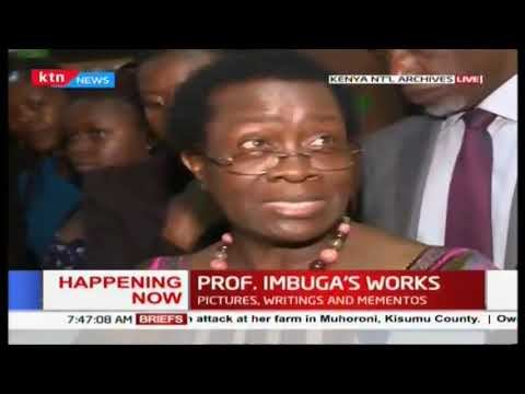 Exhibition in national archives  to  showcase Prof. Imbuga's life