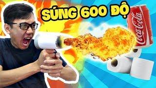 Sơn Đù KINH NGẠC TRƯỚC SÚNG NHIỆT 600 ĐỘ PHUN LỬA!! (Sơn Đù Vlog Reaction)