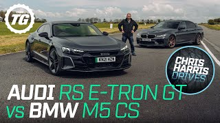 [Top Gear] Chris Harris Drives: Audi RS e-tron GT vs BMW M5 CS