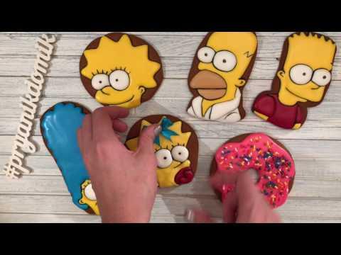 Как с делать пряники Симпсоны