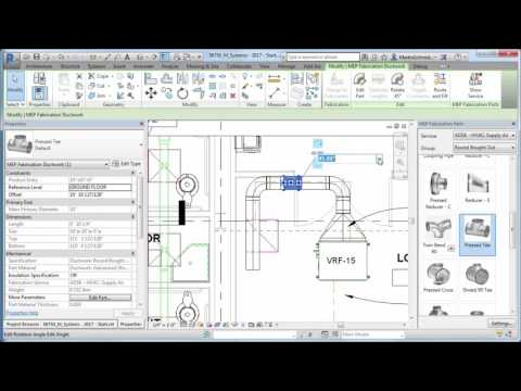 Revit 2017 - Fabrication Part Modelling